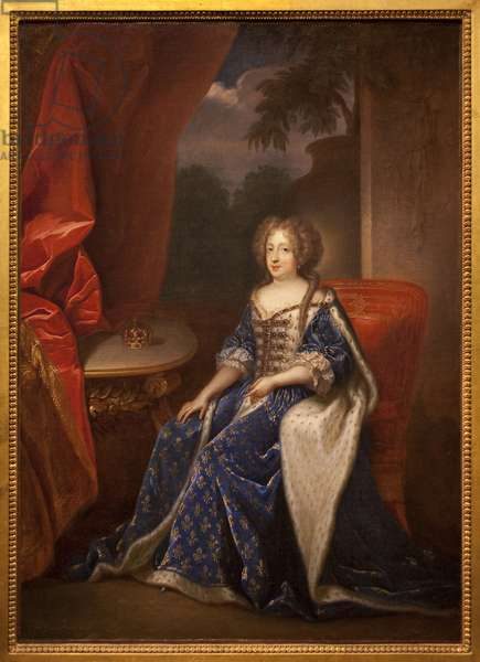 Portrait of Marie Therese (Marie-Therese) of Austria, Queen of France (1638-1683). Painting by Francois de Troy (1645-1730), oil on canvas, second half of the 17th century. Museum of Fine Arts of Angers.