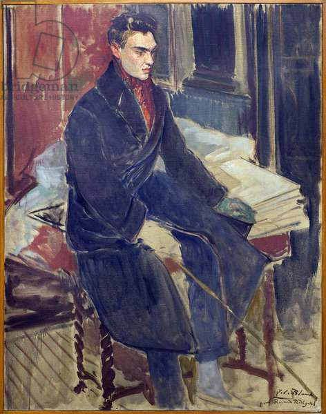 Study for the portrait in foot by Raymond Radiguet (1903-1923). Painting by Jacques Emile Blanche (1861-1942), oil on canvas, 20th century french art. Musee des beaux arts de Rouen.