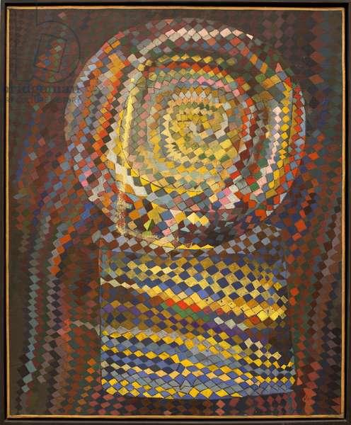 The optical machine. Painting by Maria Elena Vieira Da Silva (1908-1992) - French Art, 20th century - musee des beaux arts de Rouen