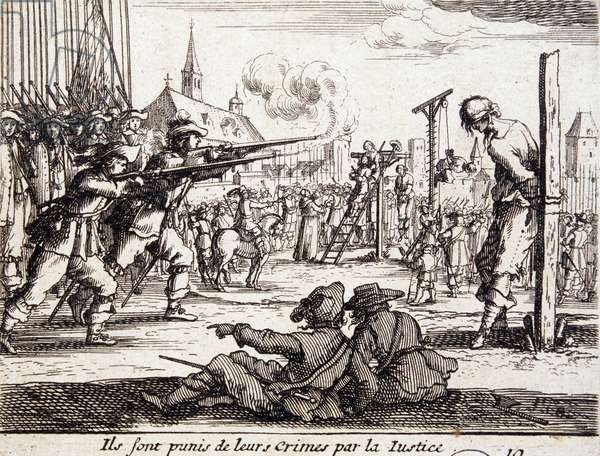 Repression of heretics in the 17th century: shooting