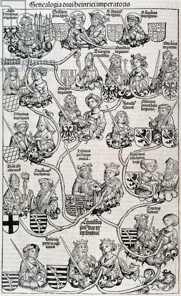 Genealogical tree-chronicles of Nuremberg circa 1593.