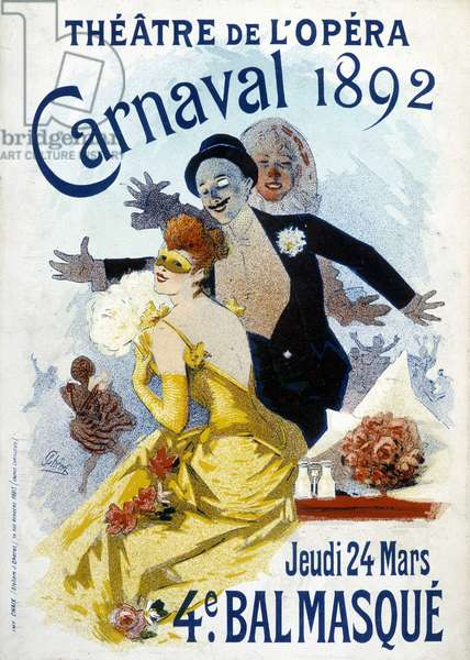 Poster of Cherret for the carnival of 1892 at the opera theatre.
