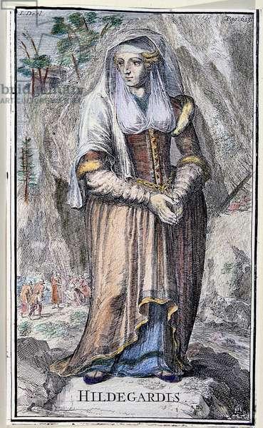 Saint Hildegarde (Hildegarde of Bingen) (1098-1179), a Benedictine nun and German mystic.