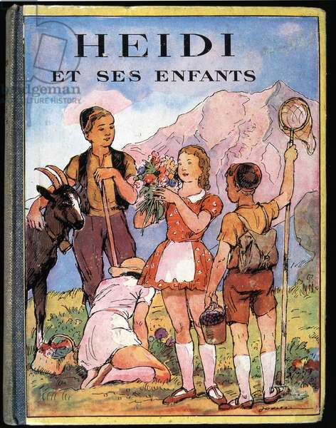 """Cover page of """""""" Heidi and her children"""""""", sd. 20th century"""
