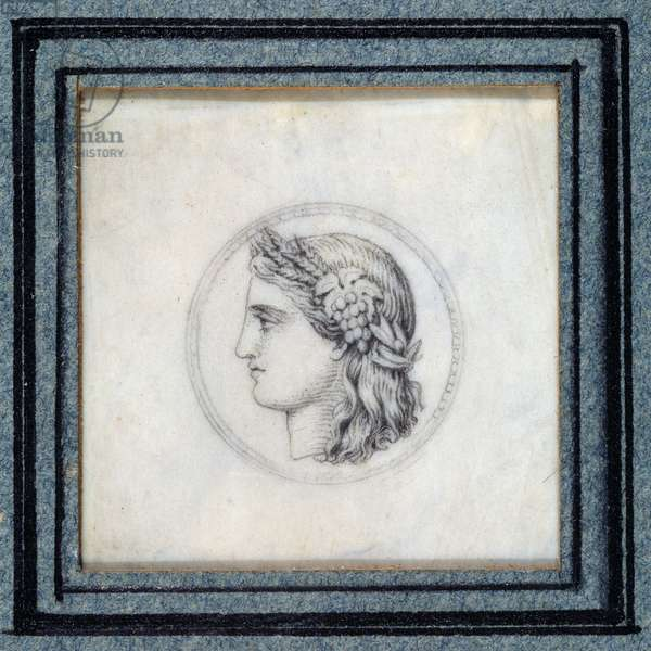 First French stamp with the effigy of Ceres.