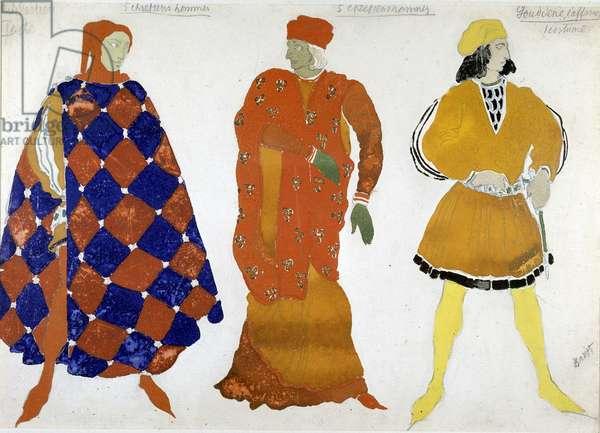 """Bakst costume for """"The Martyr of San Sebastian"""", 1911."""