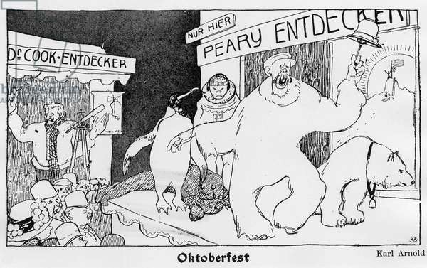 North Pole: Cook and Robert Edwin Peary - Jugend, 1909.