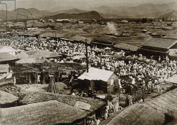 View of the market place in Daegu, Korea