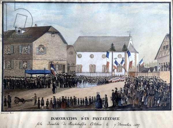 Inauguration of a Pentateuch, November, 1857 (colour litho)