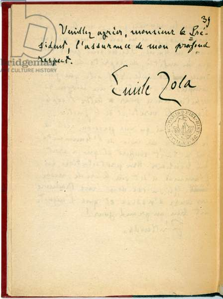 I accuse...! , 2nd page of the handwritten letter from Emile Zola to the President of the Republic, January 1898