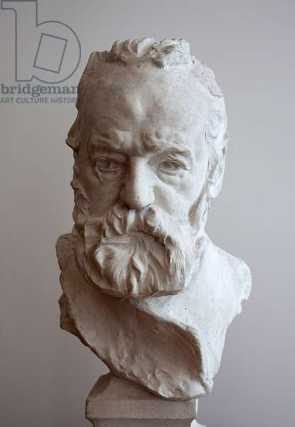 Portrait in bust of Victor Hugo (1802-1885). Plaster by Auguste Rodin (1840-1917), 19th century. Museum of Fine Arts of Cambrai.