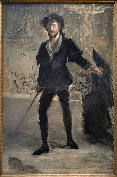Jean Baptiste Faure (1830-1914) in the opera Hamlet by Ambroise Thomas (1811-1896). Painting by Edouard Manet (1832-1883), Oil On Canvas, 1875-1877. 19th century French Art, Impressionism. Kunsthalle, Hamburg, Germany.