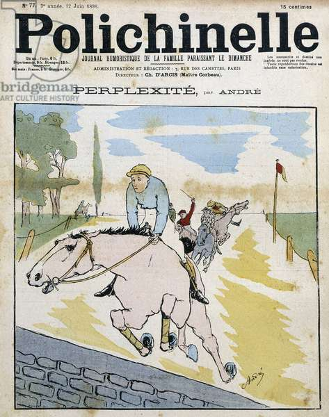 """Horse race - in """""""" Polichinelle"""""""", 1898."""