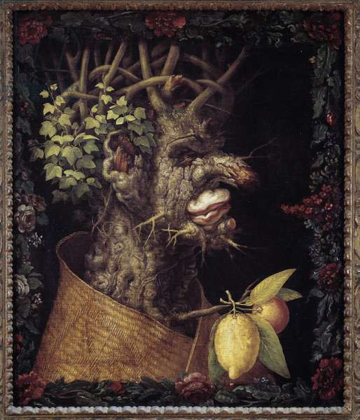 Winter. Allegory about the seasons. Painting by Giuseppe Arcimboldo (1527-1593). Musee du Louvre