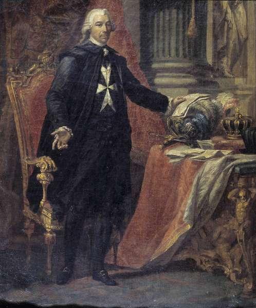 Portrait of M. de Rohan By Giuseppe Grech (1755 - 1787). 14 x 11 cm.