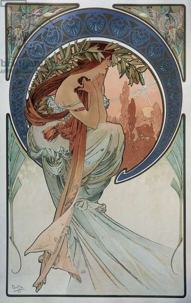 Poetry - by Mucha, 1898.