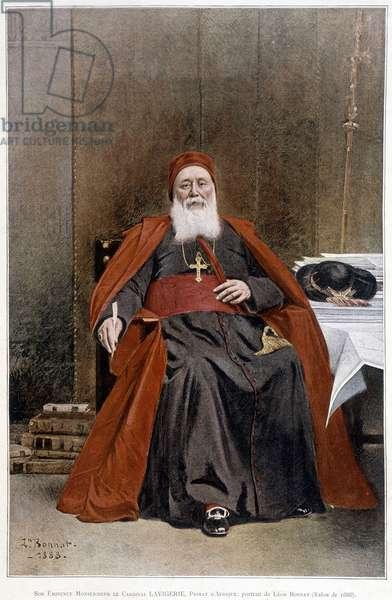 Cardinal Lavigerie, primate of Africa. Portrait made by Leon Bonnat (salon of 1888).