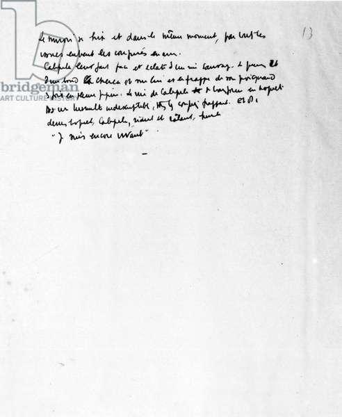 "Manuscript of """" Caligula"""", Albert Camus."