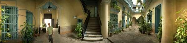 The house of Alejo Carpentier, Havana. 360-degree panoramic from Leonard de Selva, Cuba, 2001.