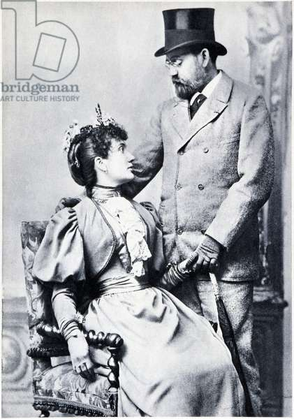 Portrait of Emile Zola and Jeanne Rozerot