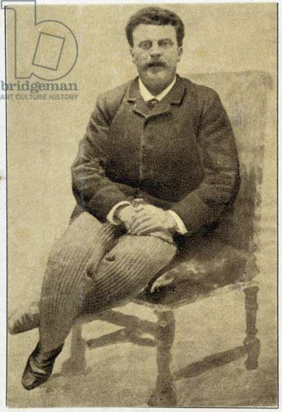 Portrait of Guy de Maupassant (1850 - 1893) in 1890.