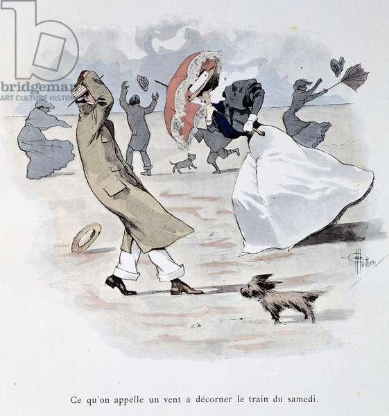 "Temps de chien - in """" Stars de mer"""" by Guillaume, 1900"