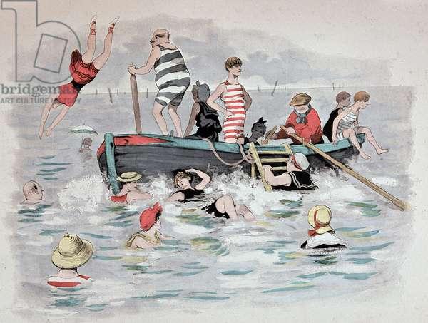 """La barque du Dante dans """"Etoile de mer"""""""". A. Guillaume. Editions Simonis Empis, Paris, 1897"""