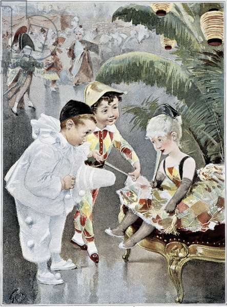"""Children's costume or masked ball - ill. by Geoffroy, in """""""" Figaro Illustré"""""""", May 1901"""