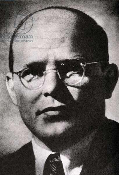 Portrait of Dietrich Bonhoefer (b/w photo)
