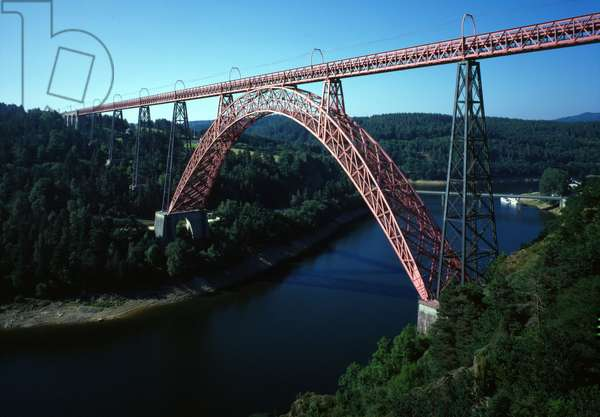 Bridge of Gabarit built by Gustave Eiffel (Cantal 15).