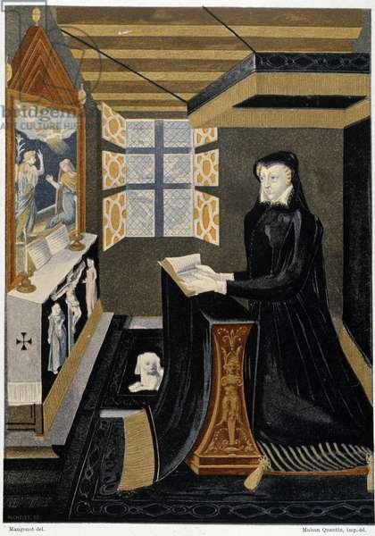 Oratory of Queen Catherine de Medici (Caterina de Medici) (Queen in prayer) - based on 16th century enamel, Cluny Museum