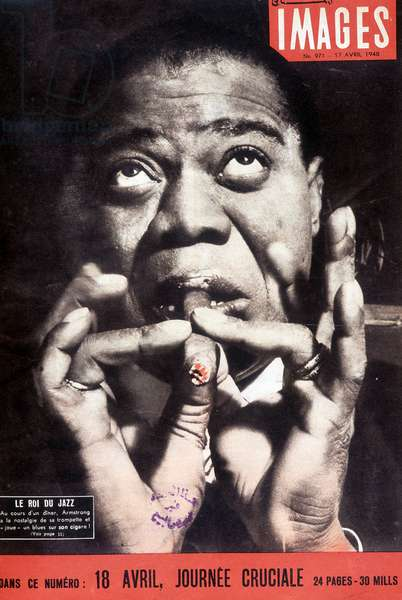 """Louis Armstrong: The King of Jazz - """"Images"""" of 17 Apr 1948."""