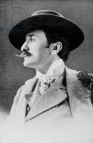 Portrait of Edmond Rostand in 1910