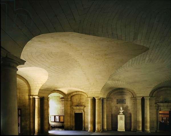 Vestibule of the Hotel de Ville in Arles, France.