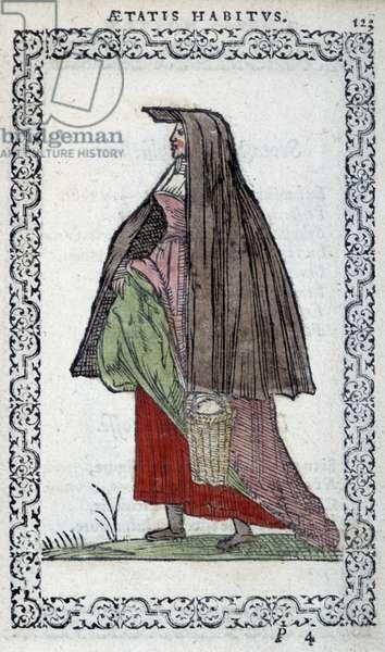 "L'écossaise - in """" Habits et effigies"""" by Jean Sluperino, 1572"