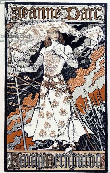 "Poster """" Joan of Arc"""" (Henriette Rosine Bernard dit Sarah Bernhardt (1844-1923) plays in Joan of Arc). Sd. about 1890"