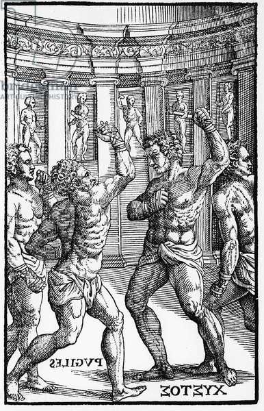 """Boxers, wrestlers - in """"Hieronymi Mercurialis de Arte Gymnastica"""""""", Venice edition, 1573.¿"""
