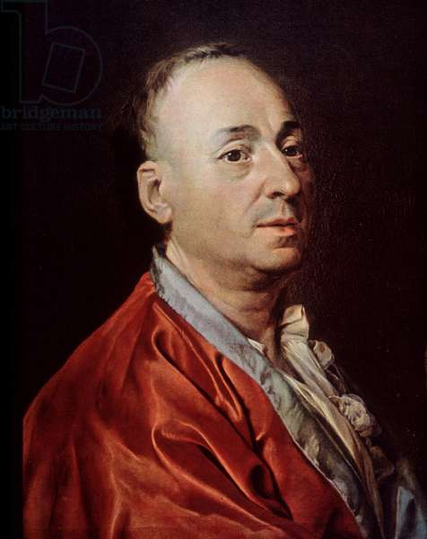 Portrait of Denis Diderot (1713-1784) - Engraving from the painting by Dmitri Levitski (1735-1822), circa 1770