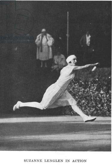 """Suzanne Lenglen - in """""""" Lacoste on Tennis"""""""" by R. Lacoste, London 1931, Editions J. Burrow."""