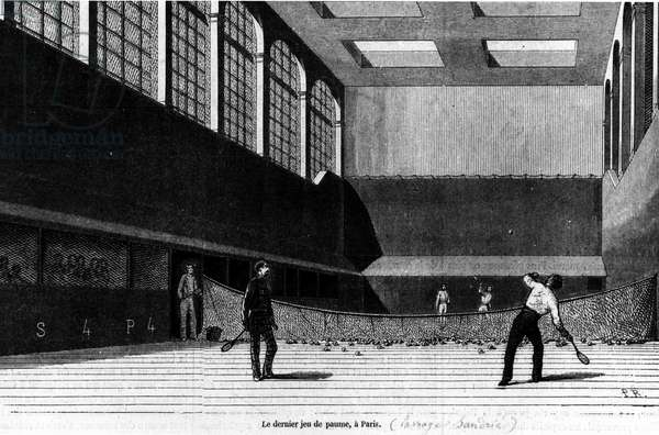 The last Jeu de Paume in Paris, Passage Sandrié, end of the 19th century.
