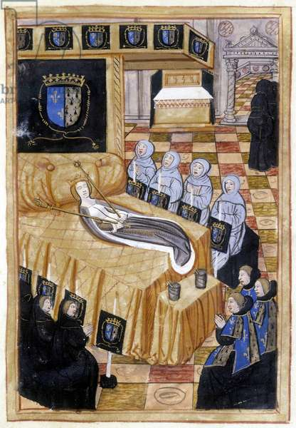 Anne of Brittany on her deathbed (1514).