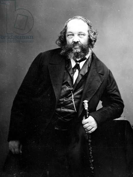 Portrait of Michail Bakunin (1814 - 1876), Russian anarchist revolutionary (1814 - 1876). Photography.