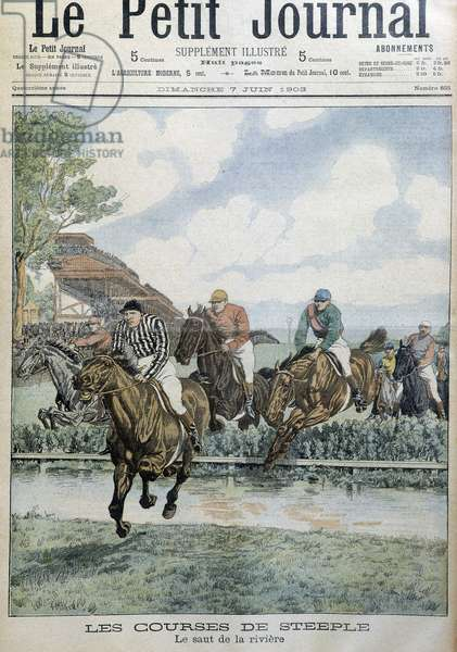 """Horse riding, horse racing, Steep- in """""""" Le Petite Journal"""", 1903."""