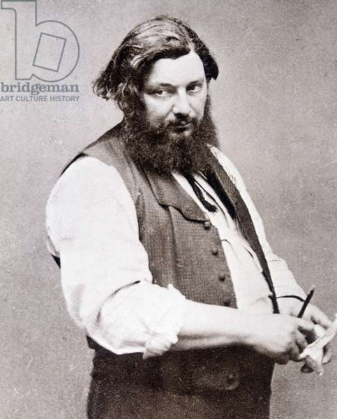 Portrait of Gustave Courbet (1819-1877) by Nadar.
