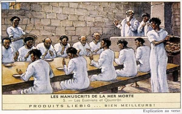 Illustration from 'Les manuscrits de la Mer Morte' (colour litho)