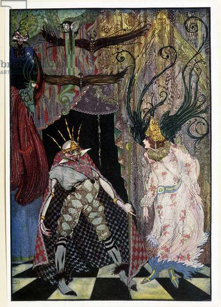 """The travelling companion: """""""" Let him have his head cut off"""""""" - in """""""" Fairy Tales"""""""" by Hans Christian Andersen, ill. by Harry Clarke"""