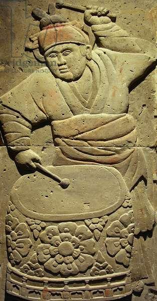 Stele depicting a musician (terracotta)