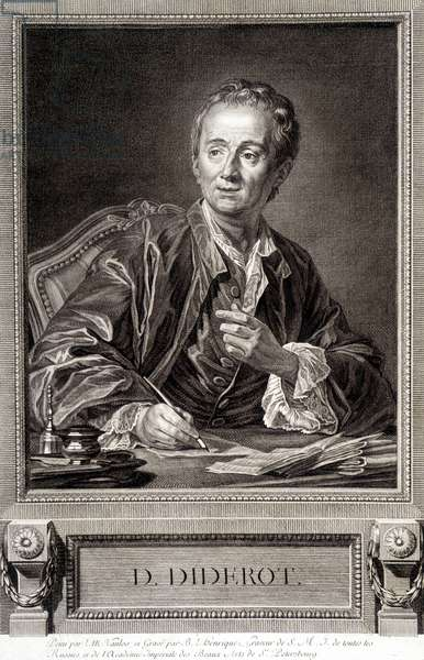 Portrait of Diderot from the Encyclopedia of Diderot and Alembert, 1751