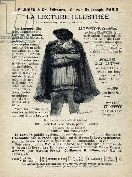 """Reading illustrated. Publication in """"Tales de Pantruche et d'ailleurs"""" by Tristan Bernard, Petite Collection du """""""" Rire"""", F. Juven & Compagnie, Paris, 1897."""