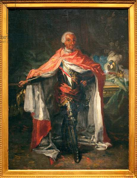 Portrait of Charles III of Spain (1716-1788) - Painting by Mariano Salvador Maella (1739-1819), oil on canvas, sketch, Spanish art, 18th century - Museum of Fine Arts of Agen